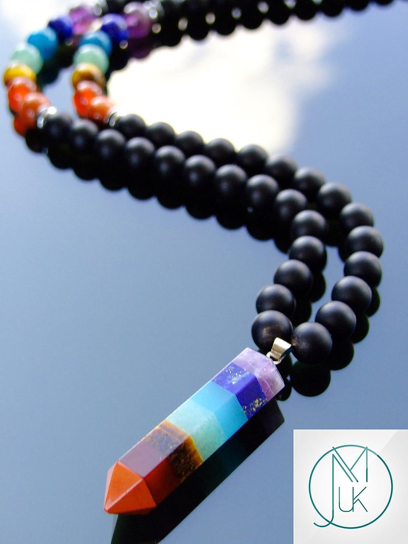 Lapis Lazuli Crystal Necklace  Macrame Necklace  Gemstone Necklace  Healing Crystal