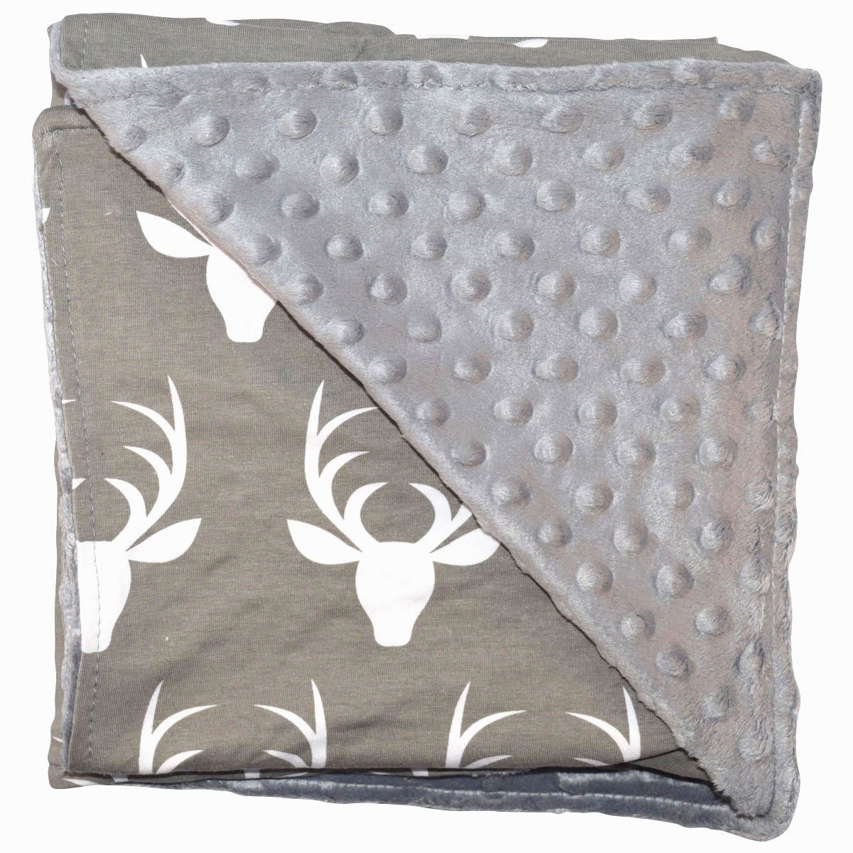 Unique Baby Soft Textured Minky Dot Blanket, Moose Grey by Unique Baby   B01IPVFSDO