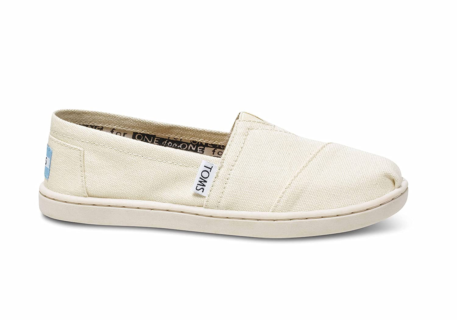 a06ea912df6c0 Toms - Youth Natural Canvas Classic Shoes, Size 12.5