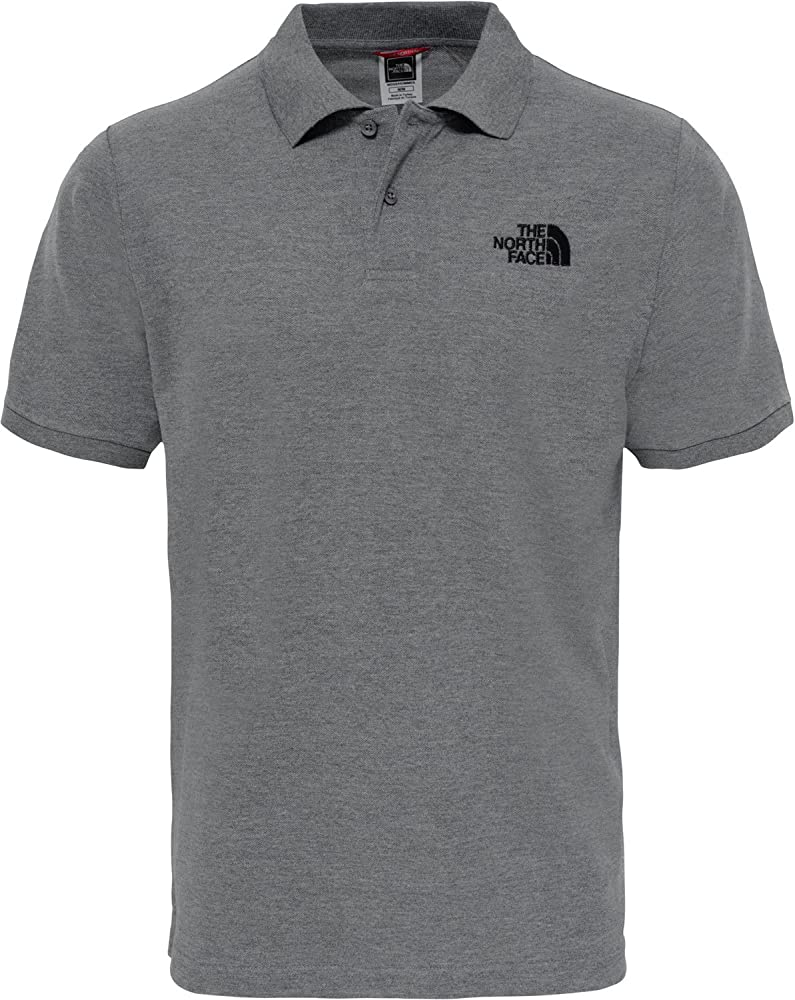 The North Face Polo Piquet, Hombre, Gris (Grey), Medium (Tamaño ...