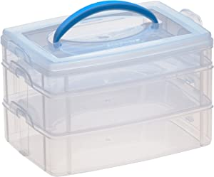 Snapware Snap 'N Stack Portable Organizer (6.6-Inches by 9.8-Inches, BPA Free Plastic)