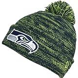 New Era Seattle Seahawks Marl Knit Beanie Beany Wool Hat Mütze be8047f3f0bb