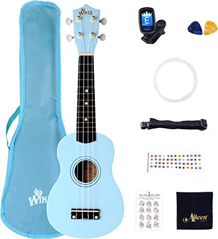 Winzz Ukelele Soprano Starter Kit para Principiante. Incluye ...