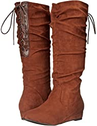 2 Lips Too Women's Too Sloucher Brown Boots
