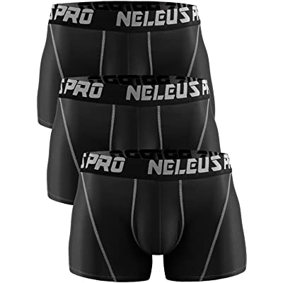 Neleus Men's 3 Pack Brief Athletic Sport Underwear
