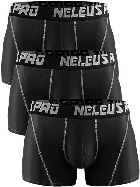 e7f322129b86 Neleus Men's 3 Pack Brief Mesh Sport Athletic Underwear, 6003, Black ...