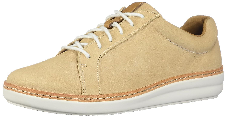CLARKS Womens Amberlee Rosa Sneaker B0762T4GPG 9.5 D US|Nude Nubuck