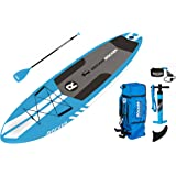 """iRocker ALL-AROUND Inflatable Stand Up Paddle Board 10' Long 32"""" Wide 6"""" Thick SUP Package"""