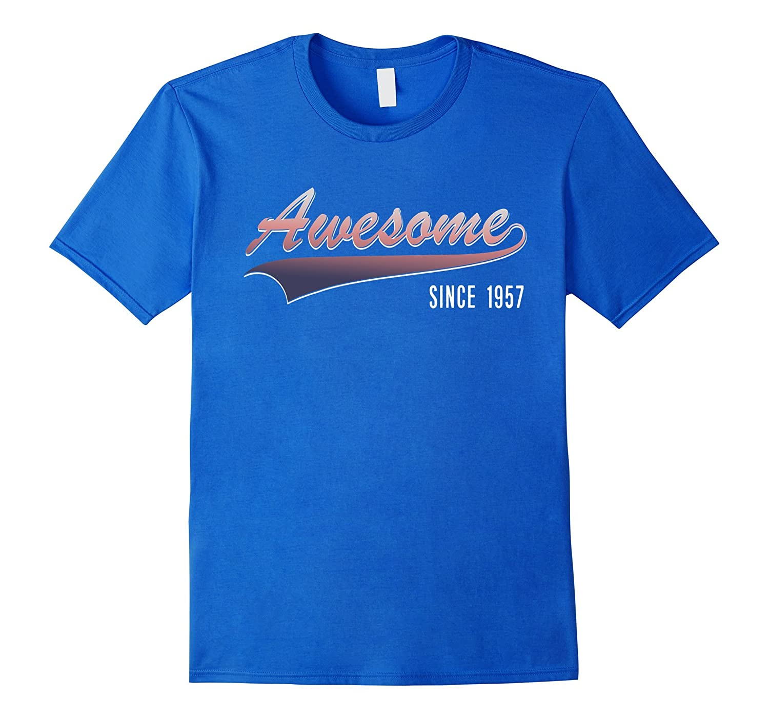 60th Birthday gift shirt Awesome Since 1957 60 year old Tee-Vaci