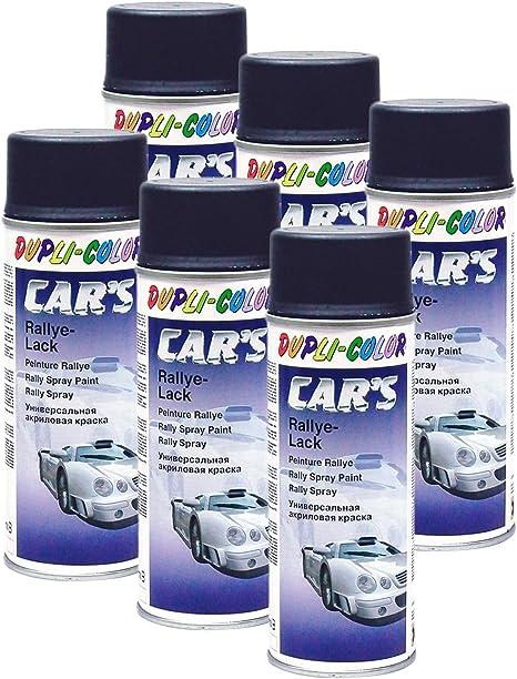 Dupli Bundle 6x Dupli Color Cars Rallye Spray Schwarz Matt 400 Ml 385872 Auto