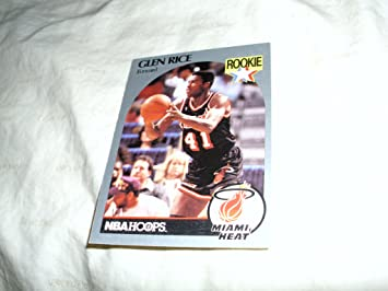 Glen Rice 1990 91 Nba Hoops Nba Rookie Card 168 Miami Heat