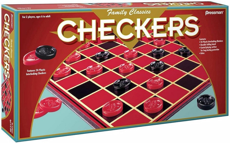 Pressman Family Classics Checkers -- with Folding Board and Interlocking Checkers