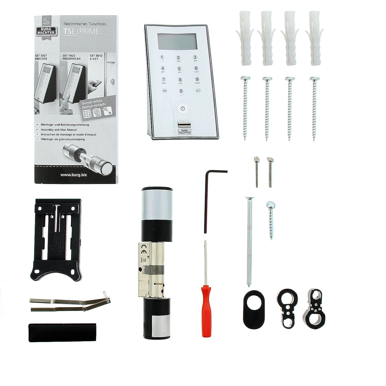 """BURG W""""CHTER Elektronisches Wireless Türschloss mit Fingerscan und Pincode TSE Prime Set 5022 Amazon Baumarkt"""