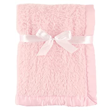 Amazon.com  Sherpa Blanket with Satin Binding - Pink  Baby 1791b04a8
