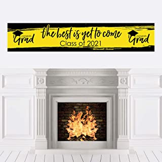 product image for Big Dot of Happiness Yellow Grad - Best is Yet to Come - Yellow 2021 Graduation Party Decorations Party Banner
