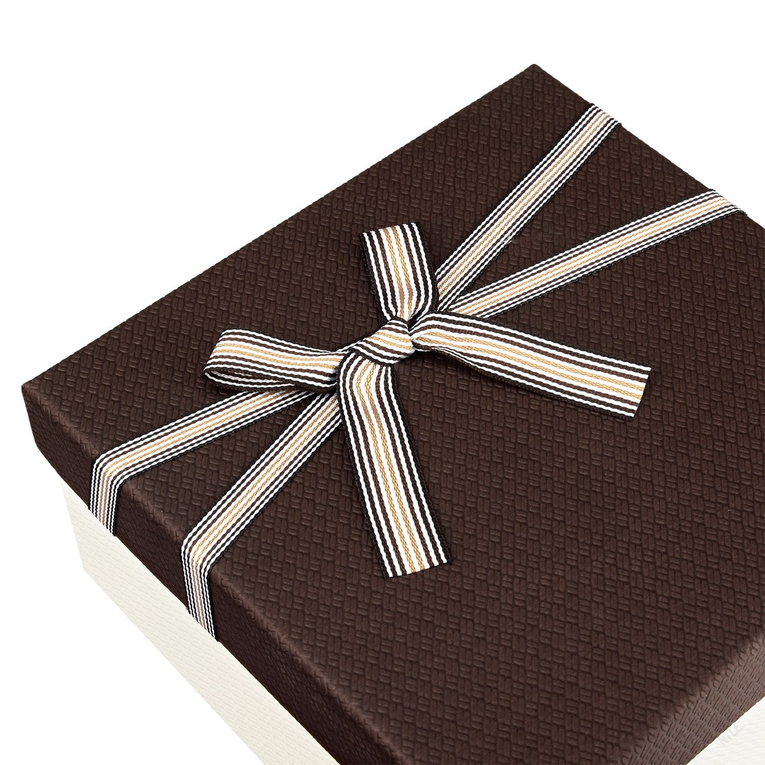 Square Nesting Gift Boxes, A Set of 3,Brown Color with A Bowtie by Ikee Design (Image #7)
