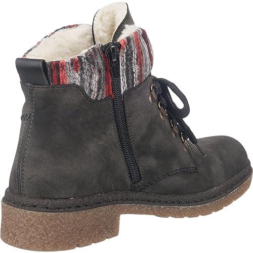 rieker Damen Schnürstiefel Stiefel Grau Schuhe,   real