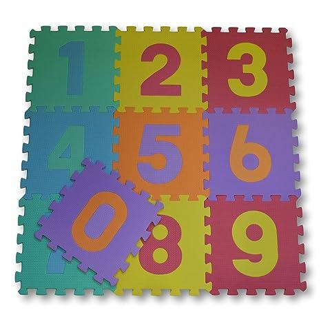7194a68f5b8 Meitoku Alfombra de Goma EVA para niños con puzle. 10 alfombras de 30 x 30