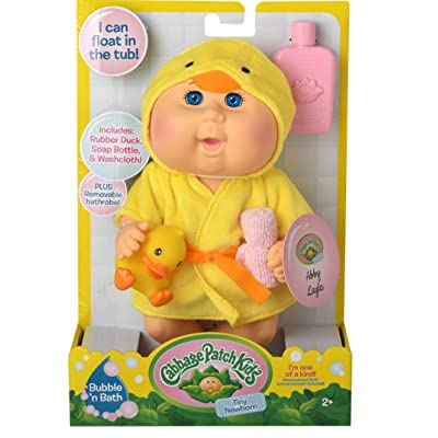 Cabbage Patch Kids Bubble N Bath Bathtime Doll- Yellow Duck: Toys & Games