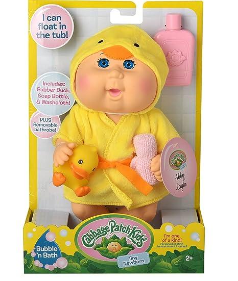 3c9731283adbb Amazon.com: Cabbage Patch Kids Bubble N Bath Bathtime Doll- Yellow Duck:  Toys & Games