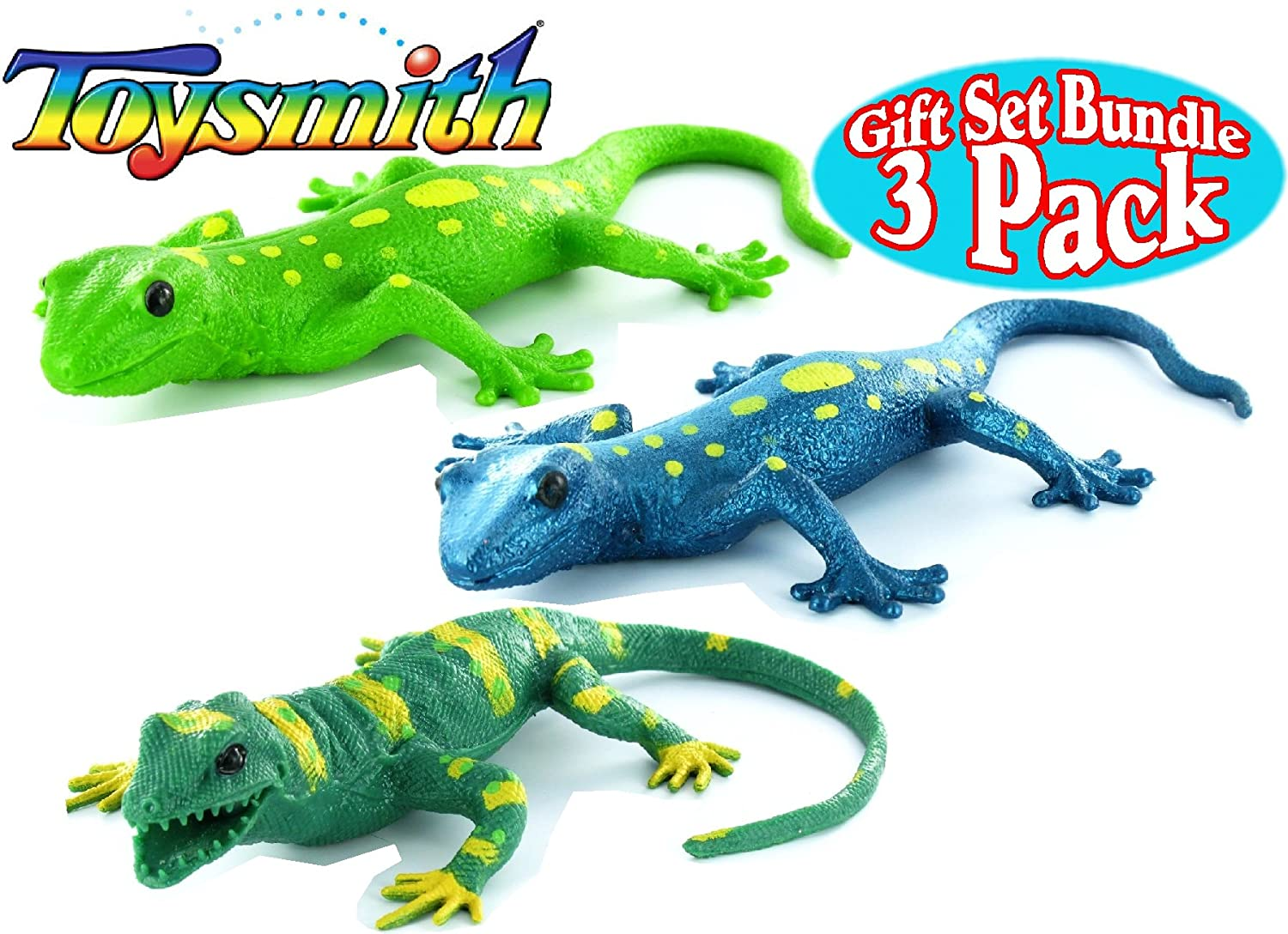 2 INCREDIBLE STRETCH LIZARDS soft squeeze /& stretch toy