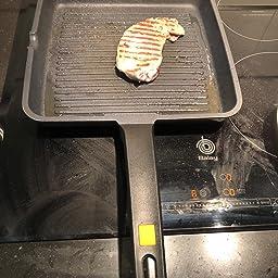 BRA A271422 Efficient - Grill asador con rayas, aluminio ...