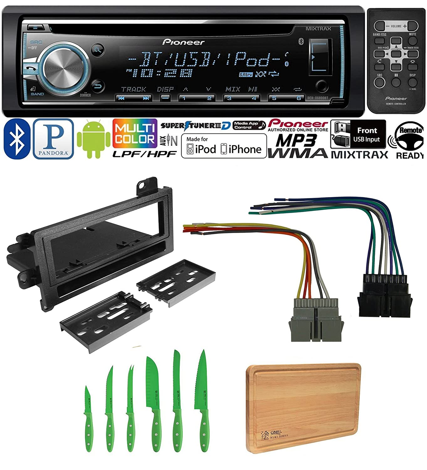 Pioneer Car Stereo Radio Bluetooth Cd Player Dash 1999 Neon 2 0 Wiring Harness Install Mount Antenna Dodge Eagle Jeep Plymouth Electronics