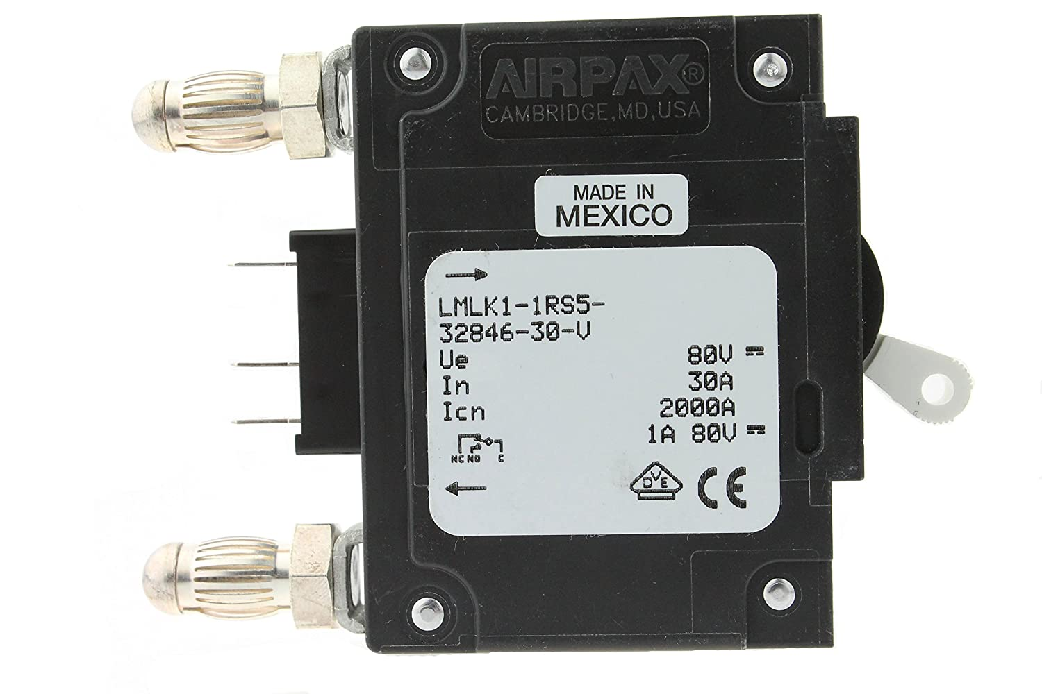 Airpax Circuit Breaker Lmlk1 1rs5 32846 30 V 30a Bullet Amp 3 4 In Doublepole Type Ch Breakerch230 The Home