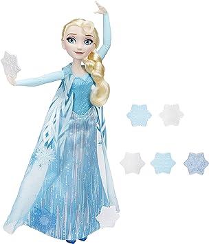 Disney Frozen - Bambola Elsa Lancia Cristalli di Ghiaccio