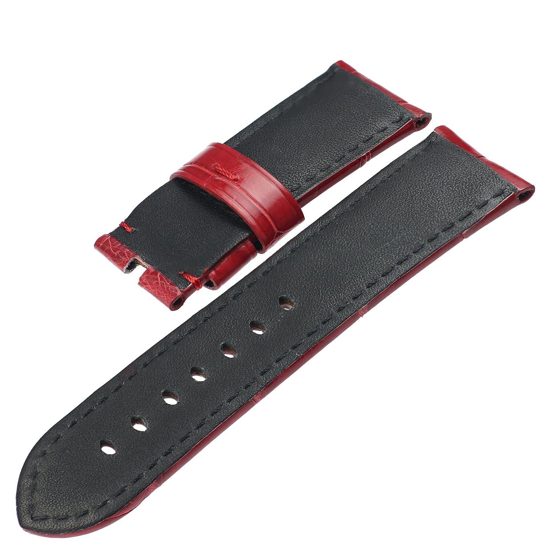 zlimsn 13 colores personalizados de piel de cocodrilo correa de reloj banda para hombres color marrón negro elegir ancho 12 mm-26 mm 38 mm 42 mm: ZLIMSN: ...