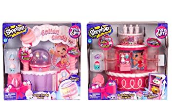 Shopkins Birthday Cake Surprise Cotton Candy Party Playset Including Blizy Flashlight