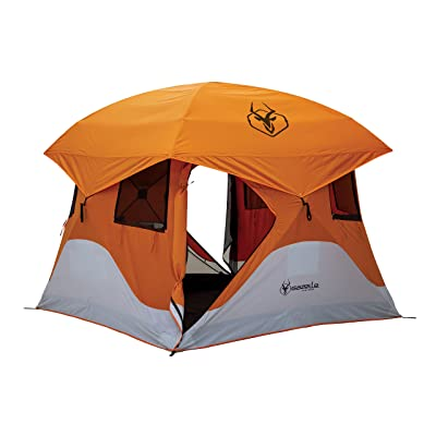 Gazelle 22272 T4 Pop-Up Portable Camping Hub Tent, Orange, 4 Person