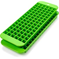 Mini Ice Cube Trays - 2 Pack - 90 Square Shaped Molds - BPA Free, Food-Grade Material – Dishwasher Safe – Stackable…