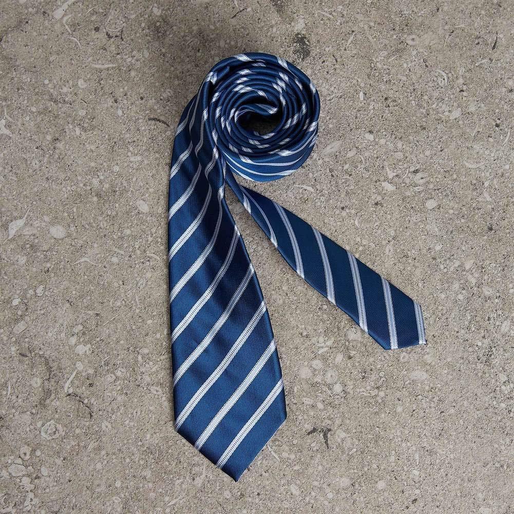 PyBle Gift Box Formal Necktie Striped Ties Silk Tie Necktie