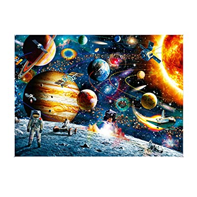 1000 Pieces Jigsaw Puzzles for Adults Kids, Educational Intellectual Decompressing Fun Game - Hand Made Puzzles Holiday Personalized Gift(Space): Toys & Games [5Bkhe0707248]