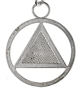 """product image for From War to Peace AA Symbol Silver-Dipped Pendant Necklace on 18"""" Rolo Chain"""