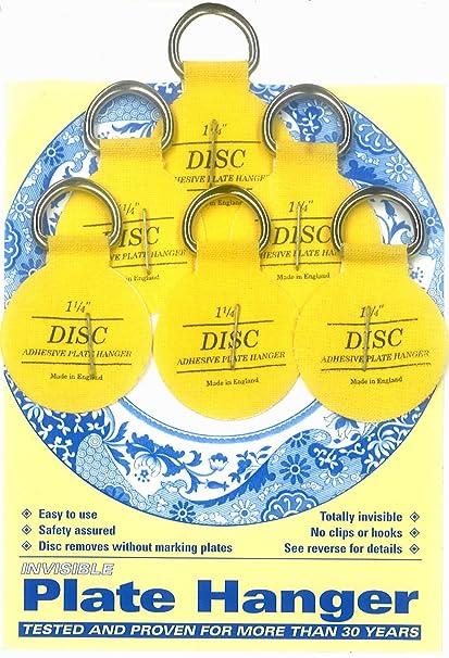 Flatirons Disc Adhesive Plate Hanger Set (6 - 1.25 Inch Hangers)  sc 1 st  Amazon.com & Flatirons Disc Adhesive Plate Hanger Set (6 - 1.25 Inch Hangers ...