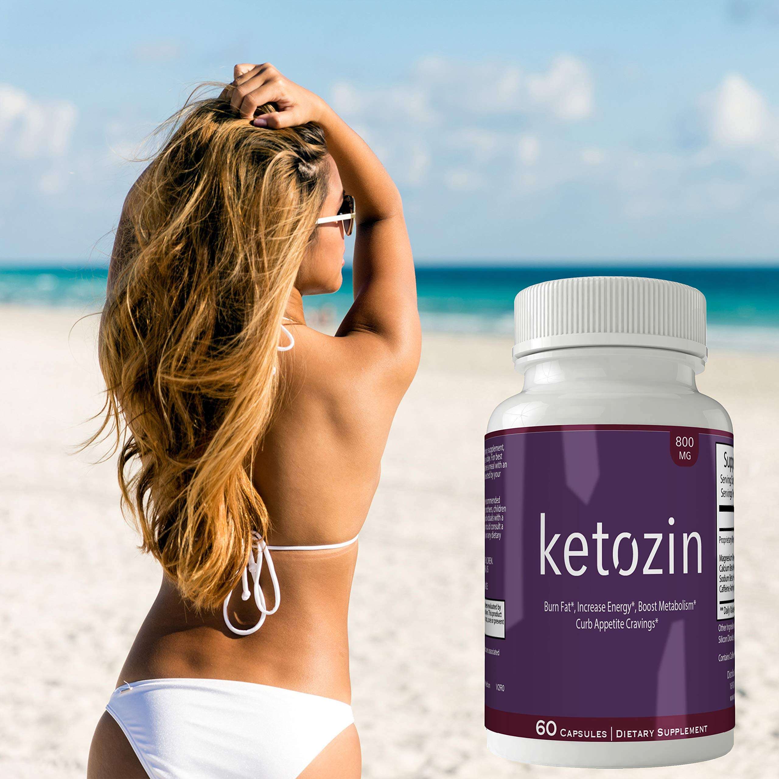 Ketozin Weight Loss Pills Advance Weight Loss Supplement Appetite Suppressant Natural Ketogenic 800 mg Formula with BHB Salts Ketone Diet Capsules to Boost Metabolism, Energy and Focus by nutra4health LLC (Image #4)