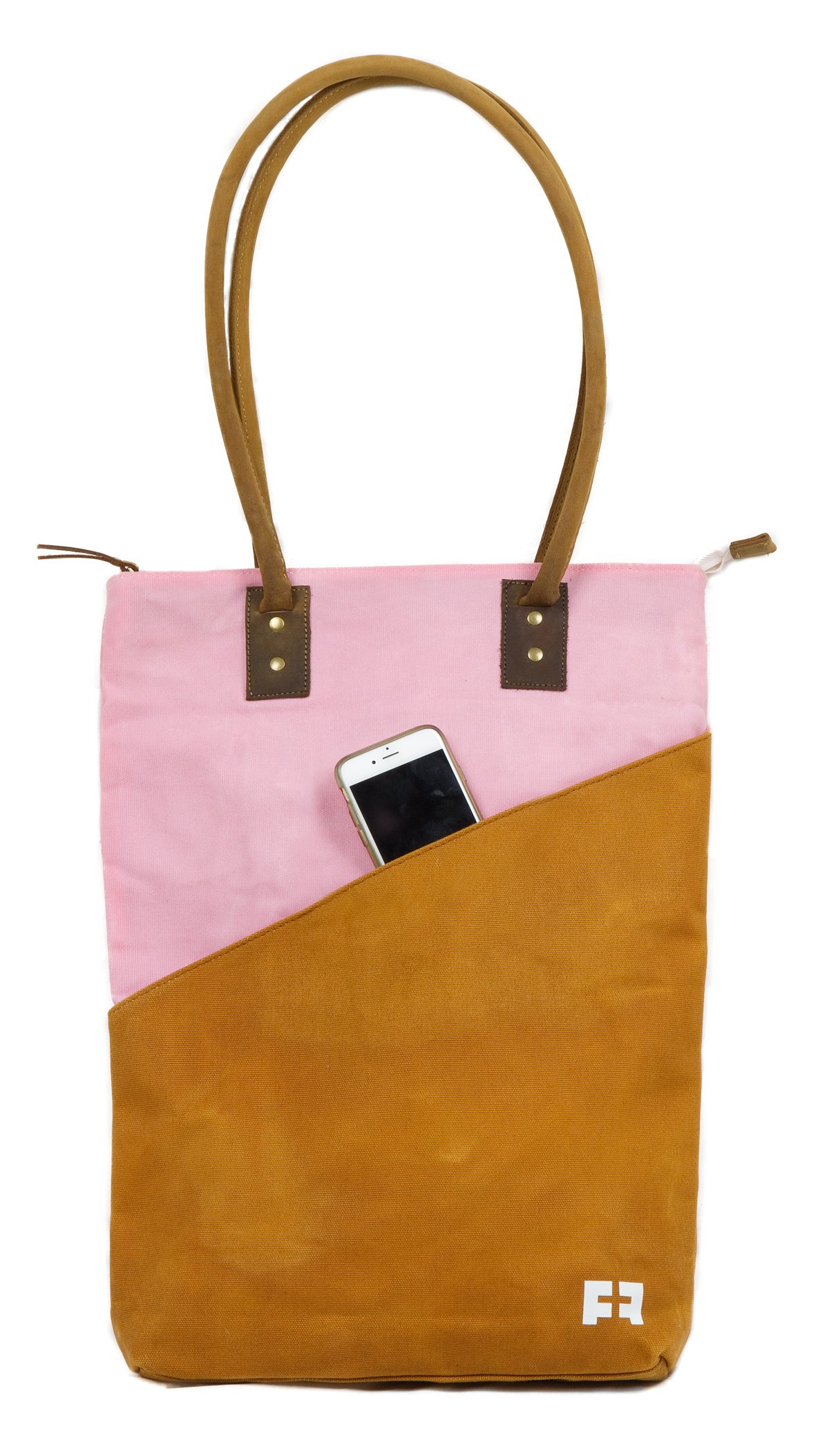 Large Waxed Canvas Tote Bag for Women | the JOPLIN TALL TOTE by FAT FELT (Desert) by FAT FELT (Image #7)