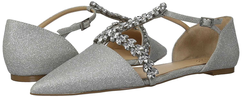 Badgley Mischka 10 Jewel Women's Maury Mary Jane Flat B07864V3GR 10 Mischka B(M) US|Silver Glitter 8c3164