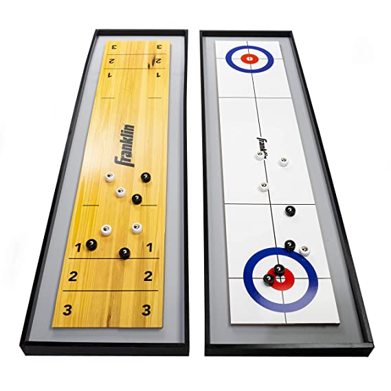 Franklin Sports 2-in-1 Shuffleboard Table and Curling Set - Best for First-Time Buyers