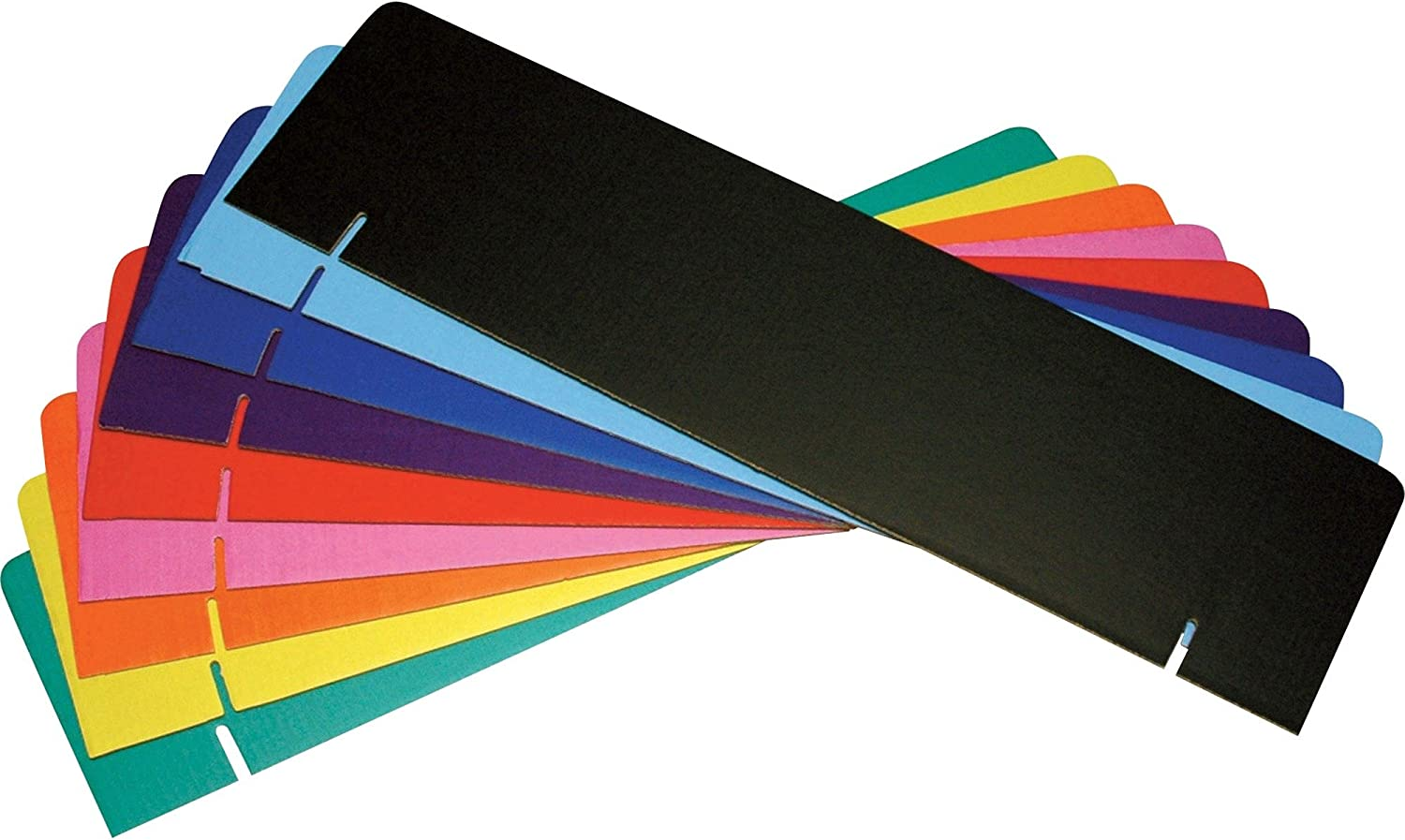 Pacon Presentation Board Headers Border Black Green Yellow Red Blue Orange 24 per Carton Purple