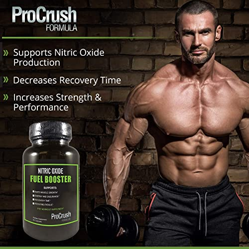 Nitric Oxide Supplement with L-Arginine – Natural N.O. Booster for Energy, Blood Flow, Endurance.