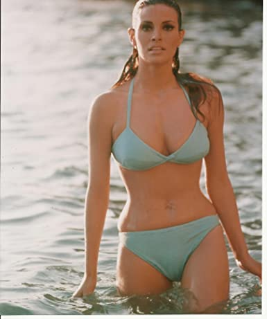 Raquel Welch Sexy Blue Bikini Wet Hair 8x10 Photo Standing In The Water At Amazons Entertainment Collectibles Store