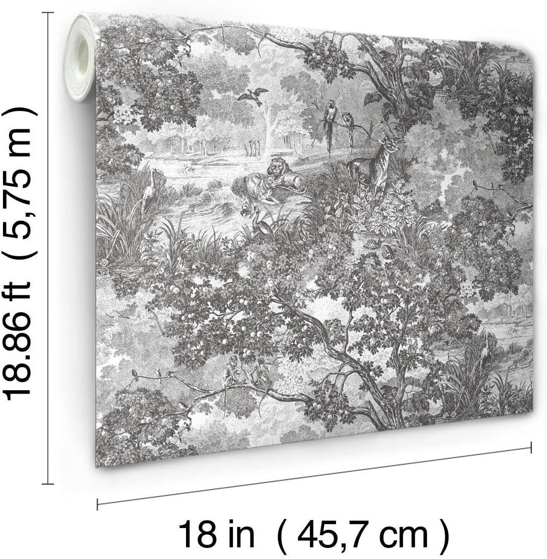 RoomMates Jungle Toile Peel and Stick Wallpaper