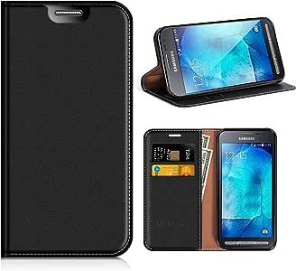 MOBESV Funda Cartera Samsung Galaxy Xcover 3, Funda Cuero Movil ...