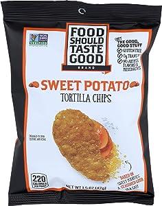 Food Should Taste Good, Tortilla Chips Sweet Potato, 1.5 Ounce