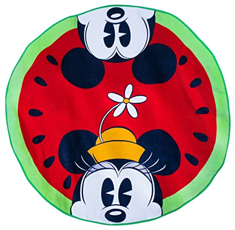 Watermelon Fun Disney Toalla de playa con diseño de Mickey y Minnie Mouse, de la