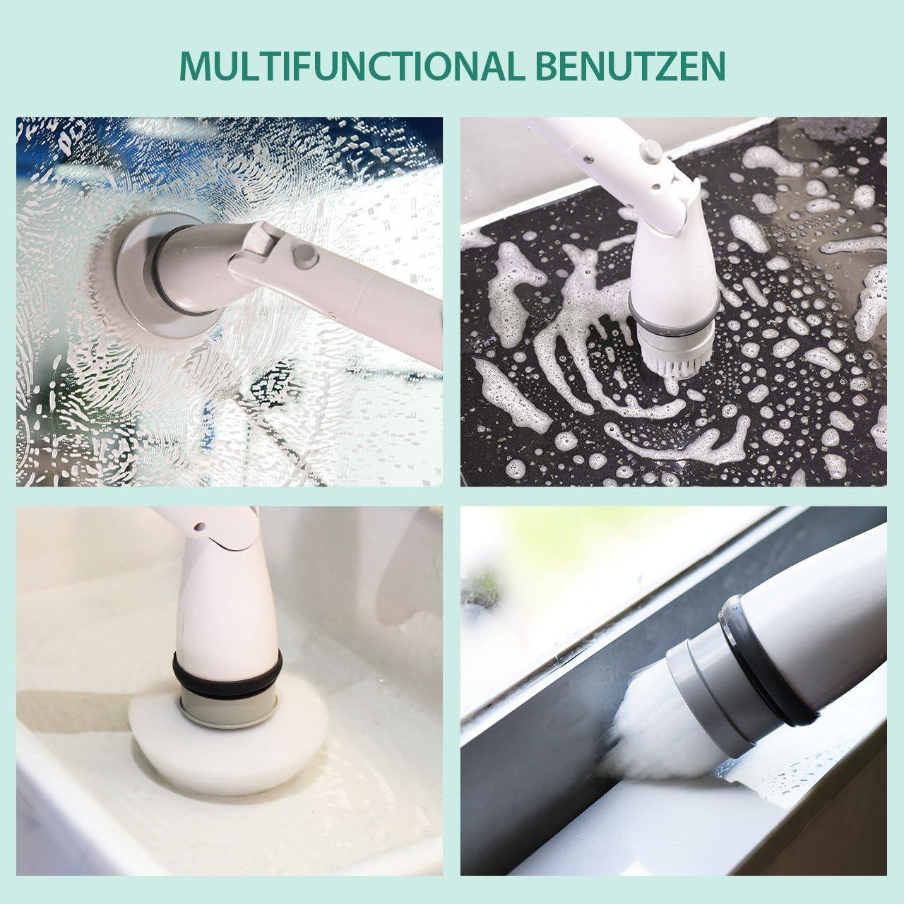 Badzimmer Toilette Fugenb/ürste elektrisch f/ür Ecken elektrische Reinigungsb/ürste schnurlos Homitt Spin Scrubber klassisch 1