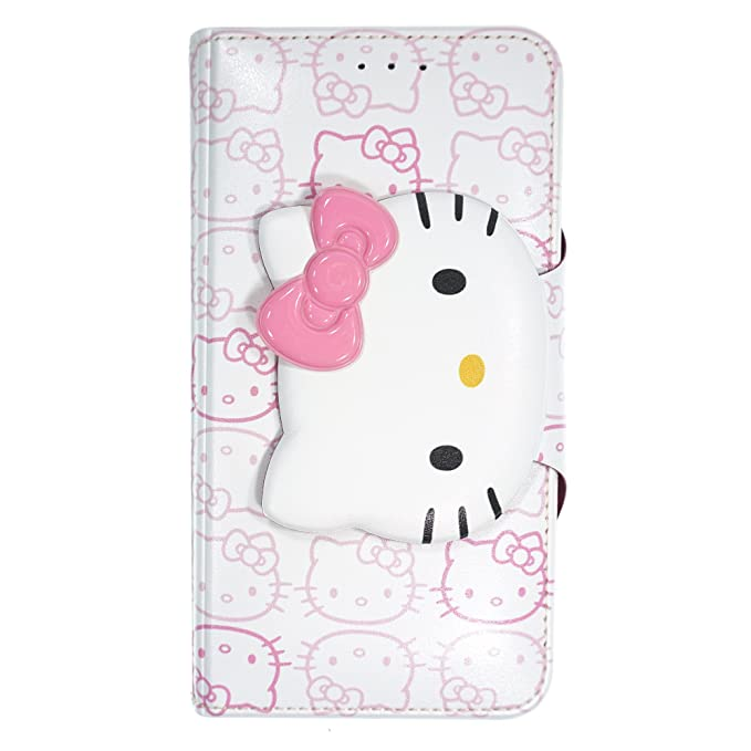 cheap for discount 32e8a dfc21 iPhone X Case Hello Kitty Cute Diary Wallet Flip/Synthetic  Leather/Anti-Shock for Apple iPhone X Cover - Button Face White